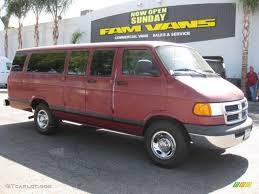 Dodge Ram Van - 1998 medium red metallic dodge ram van 3500 extended 71687797