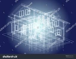 authors design residential house attic window stock vector