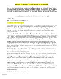 grant letter sample grant application cover letter mfacourses887