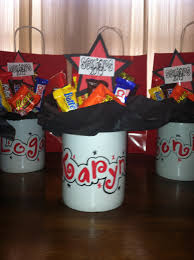gift mugs with candy personalized candy bouquet mugs for high school senior gift idea