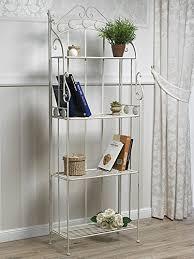 etagere in ferro battuto libreria etagere ferro battuto bianco shabby chic it casa