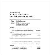 templates for business agenda 10 business agenda templates free sle exle format