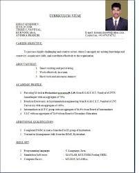 resume standard format jospar