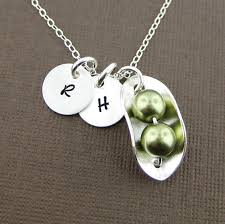 two peas in a pod jewelry two peas in a pod necklace with two initial charms sterling