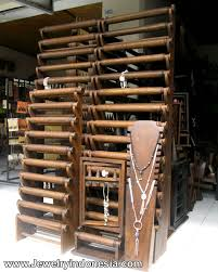 display holder necklace images Jewelry displays wood bali indonesia store fixtures in wood jpg