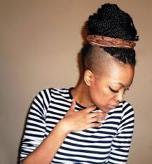 braids with half shaved head pemburu jatuh cinta and gaya rambut on pinterest