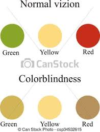 Yellow Red Color Blindness Vector Clip Art Of Color Blindness Eye Color Perception Vector