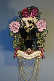 tattoo home decor je mourrai pour ceux que j aime skull and flowers death painting