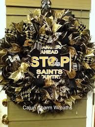 saints ribbon saints ribbon wreath cajun charm wreaths wreaths