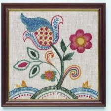 jacobean crewel embroidery kit co uk kitchen home