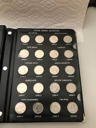 State Series Quarters Collector Map by State Quarter Collection With Collector Book Whiteford Gold