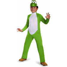 deluxe halloween costumes for kids super mario bros boys u0027 yoshi deluxe costume walmart com