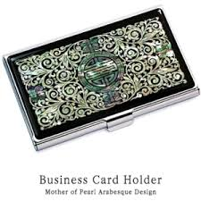 Best Business Card Holder Business Card Holder Inlaid With Mother Of Pearl Arabesque Design