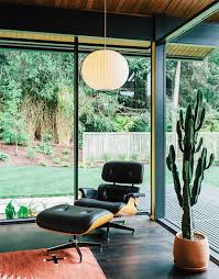 Original Charles Eames Lounge Chair Design Ideas Photo 2 Of 19 In Midcentury Renovation In Portland Capitalizes On