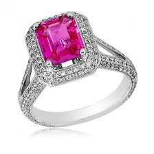 kay jewelers clearance gregg ruth 18kwg pink sapphire u0026 diamond halo ring windsor fine