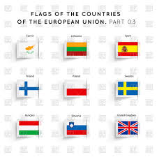 Union Flags Postmark With European Union Flag And Postage Stamp Royalty Free