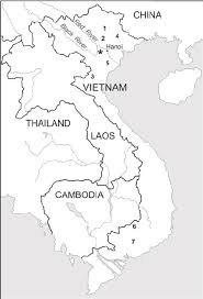 map of vi map of indochina location of the ba vi national park is marked by