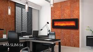 sierra flame electric fireplace slim line 54