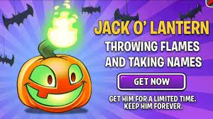 plants vs zombies 2 jack o u0027 lantern throwing flames in halloween