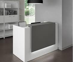 bureau blanc et gris banque d accueil design en verre et en bois achat vente