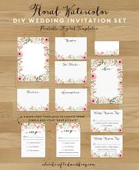 wedding invitations sets pink floral diy wedding invitation set you can customize your