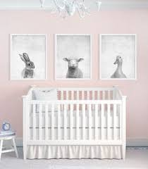 Bunny Nursery Decor Bunny Nursery Posters From Etsy And Mobile Made Pink And