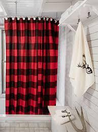 Crazy Shower Curtains Buffalo Check Shower Curtain Simons Maison Shop Fabric Shower