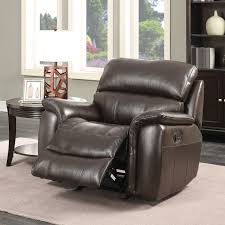 pulaski wilson brown leather manual recliner chair costco uk