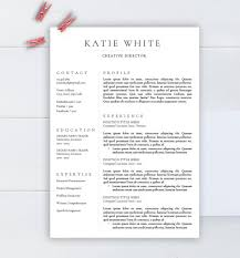 Minimalist Resume Minimalist Resume Template Cv Template For Word Two Pages