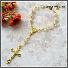catholic rosary online catholic baby s baptism favors gold capped transparent glass