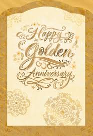 anniversary card golden wishes 50th anniversary card greeting cards hallmark