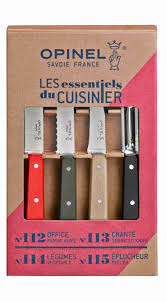 Opinel Kitchen Knives Loft 4 Essentials Knives Box Set Opinel Com
