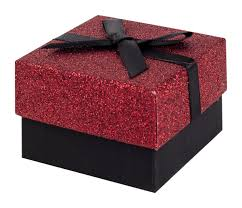 gift box with ribbon black and glitter gift box with black ribbon bow
