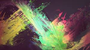 1920x1080 bright color paint color abstract line abstraction