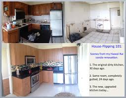 Before And After Kitchen Remodels by House Flipping In Hawaii Kitchen Renovation Before During And