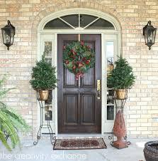 Decorative Pine Trees Front Door Terrific Modern Front Door Wreath For House Ideas