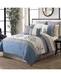 King Comforter Sets Blue Deal Alert Kiori 12 Piece King Comforter Set In Blue Grey