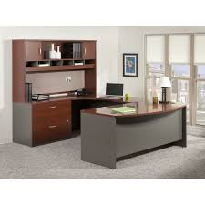 bush business furniture series c l shape executive desk with l bow