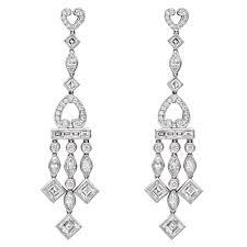Big Chandelier Earrings Raymond C Yard Square U0026 Marquise Shaped Diamond Chandelier