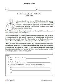 biography of abraham lincoln download abraham lincoln biography worksheet for kids edumonitor