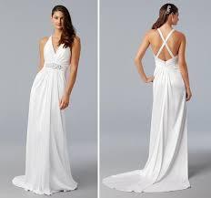 halter style wedding dresses white halter sheath style wedding dress in silk jersey with criss