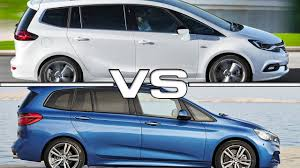 bmw minivan opel zafira tourer vs bmw 2 series gran tourer youtube