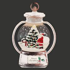 decorative silver christmas lantern pop up card globe