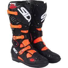 red motocross boots sidi crossfire 2 srs black flo orange boots motocross boots