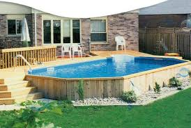 aloha pools outdoor deck ideas lap luxury semi inground pool spa