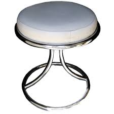 Vanity With Stool Mid Century Chrome Vanity Stool At 1stdibs