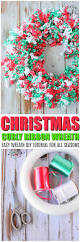 Wreaths Diy Christmas Wreath Diy With Curly Korker Ribbons