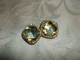 changing earrings coventry pat pending color changing topaz rhinestone clip on