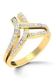 diamond studded american diamond studded ring jvr134