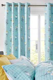buy retro floral blackout lined eyelet curtains from next ireland